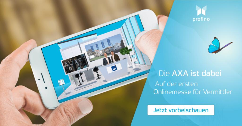 AXA Versicherungsberater Onlinemesse profino Messestand