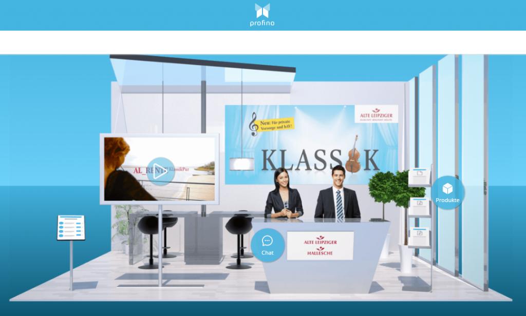 ALTE-LEIPZIGER-HALLESCHE Online Messestand profino