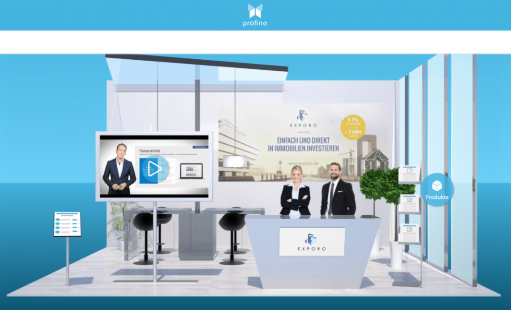 Exporo AG Crowdinvesting-Plattform auf profino Onlinemesse